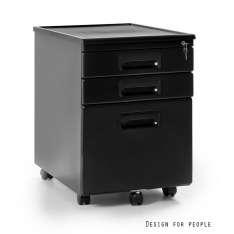 Kontener 324-b Unique szafka biurowa czarna